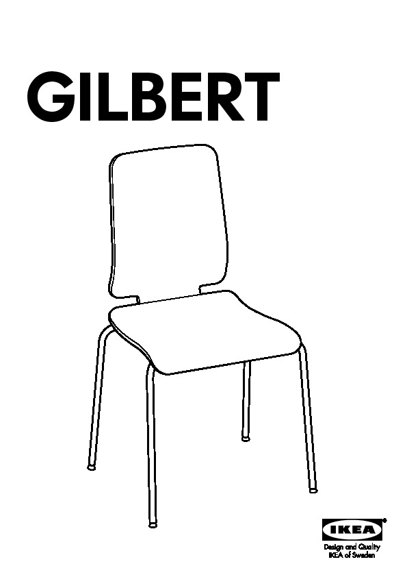 GILBERT Chaise blanc (IKEA France) IKEAPEDIA