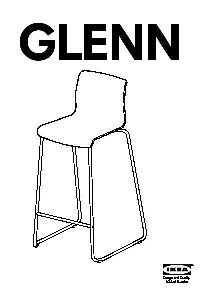 Glenn Tabouret De Bar Blanc Chromé Ikea France Ikeapedia