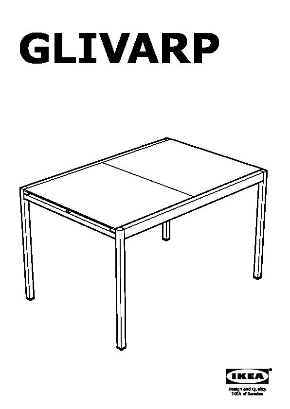Glivarp tobias tavolo e 6 sedie trasparente trasparente ikea italy ikeapedia - Tavolo trasparente allungabile ...