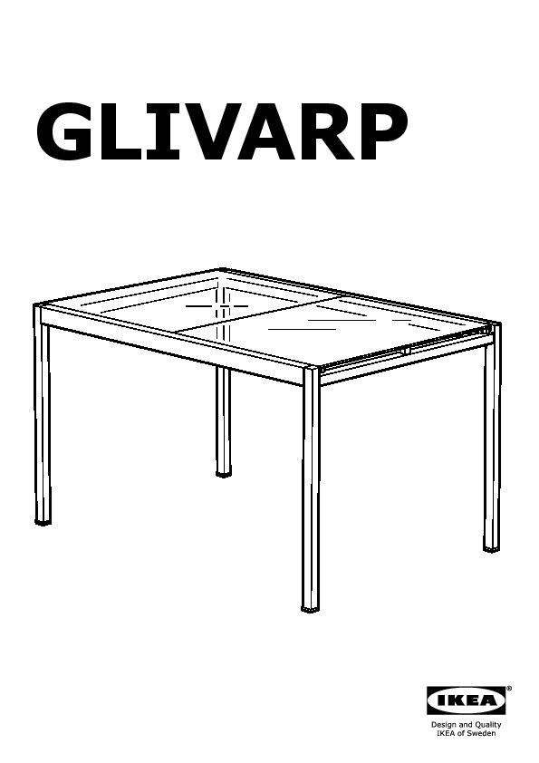 Glivarp vilmar tavolo e 4 sedie trasparente marrone nero ikea italy ikeapedia - Tavolo trasparente allungabile ...