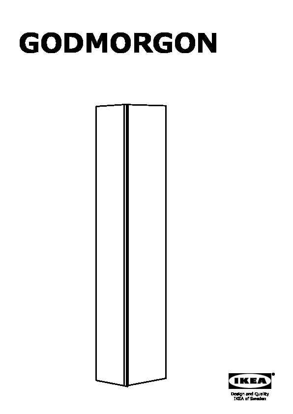Ikea Värde Unterschrank Gebraucht ~ GODMORGON Armoire brillant, noir  IKEAPEDIA