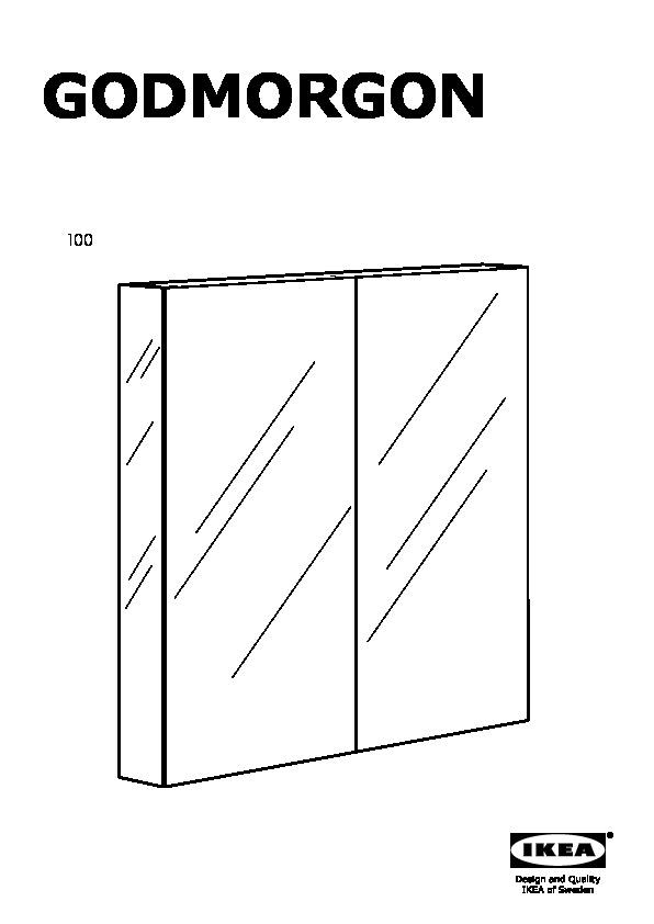 GODMORGON Mirror cabinet with 2 doors (IKEA United States) - IKEAPEDIA