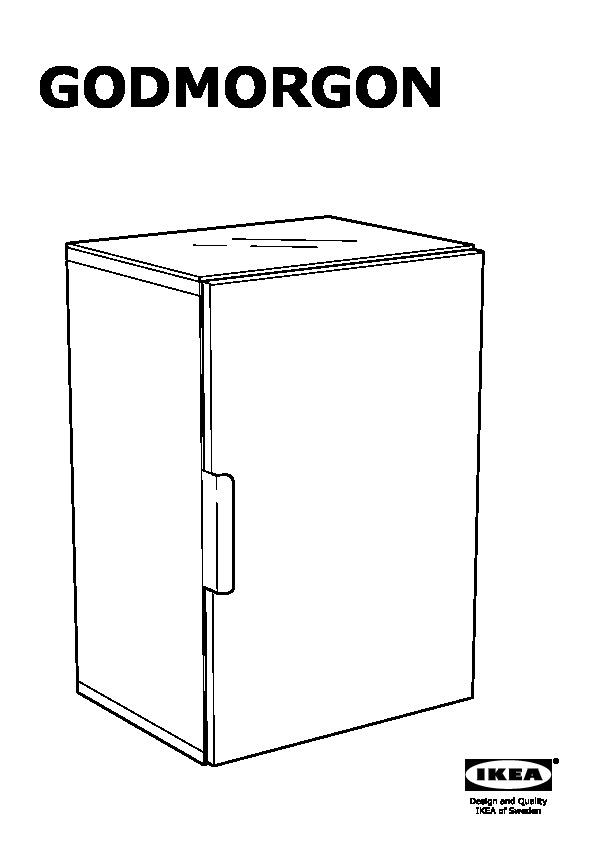 Godmorgon Pensile Con 1 Anta Bianco Ikea Italy Ikeapedia