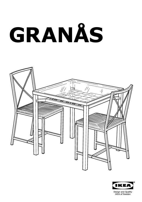 Gran s table and 2 chairs black glass ikea canada for Tavolo granas ikea