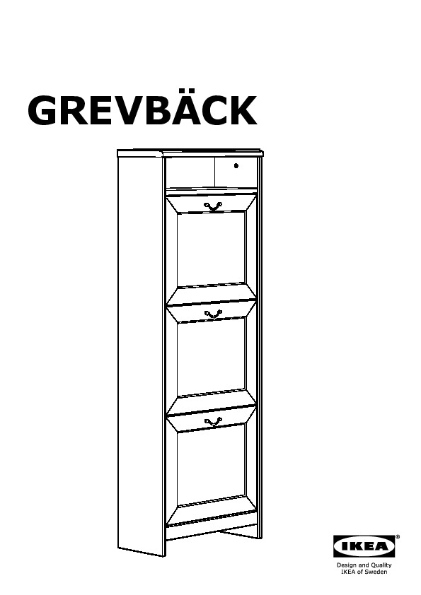 grevb ck armoire chaussures 3 casiers effet ancien ikea france ikeapedia. Black Bedroom Furniture Sets. Home Design Ideas