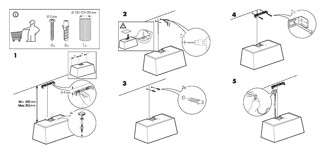 griljera tuyau d 39 vacuation hotte aspirante acier inoxydable ikea france ikeapedia. Black Bedroom Furniture Sets. Home Design Ideas