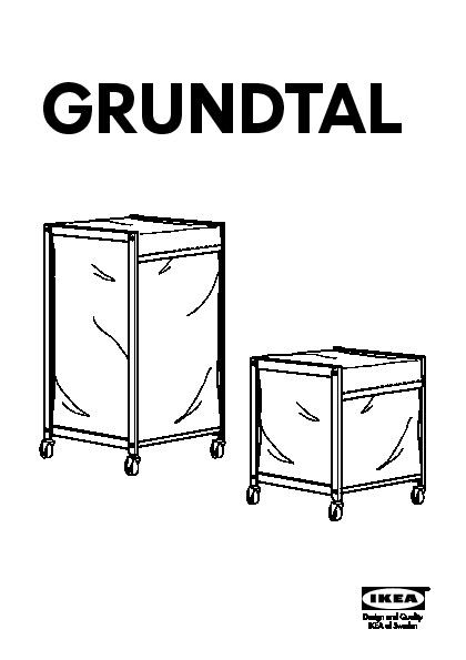 Grundtal Laundry Bin With Casters Stainless Steel Ikea