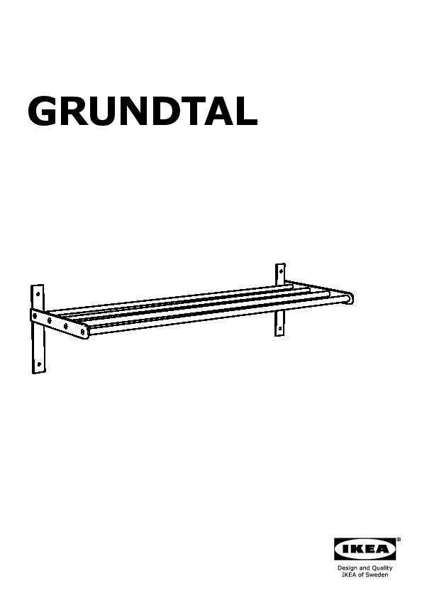 Grundtal porte serviettes tag re acier inoxydable ikea for Porte serviettes ikea grundtal