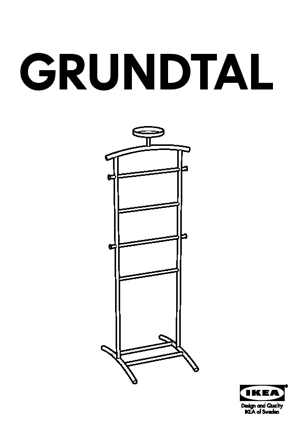 grundtal valet stand stainless steel ikea united states ikeapedia. Black Bedroom Furniture Sets. Home Design Ideas