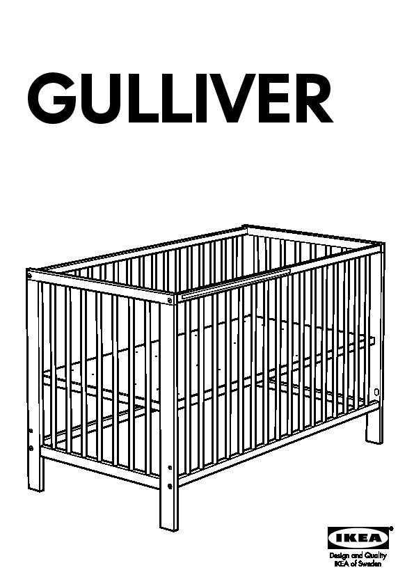 Ikea Crib Manual Product User Guide Instruction