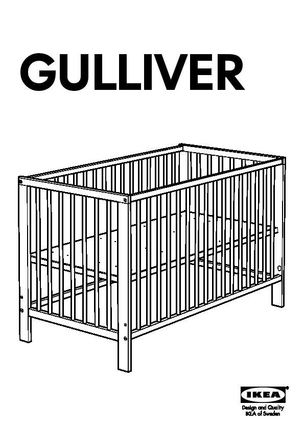 lit bebe ikea gulliver. Black Bedroom Furniture Sets. Home Design Ideas