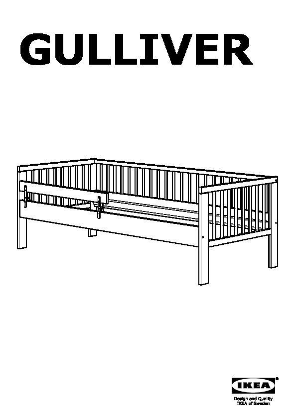 Gulliver struttura letto con base a doghe bianco ikea for Letto gulliver ikea