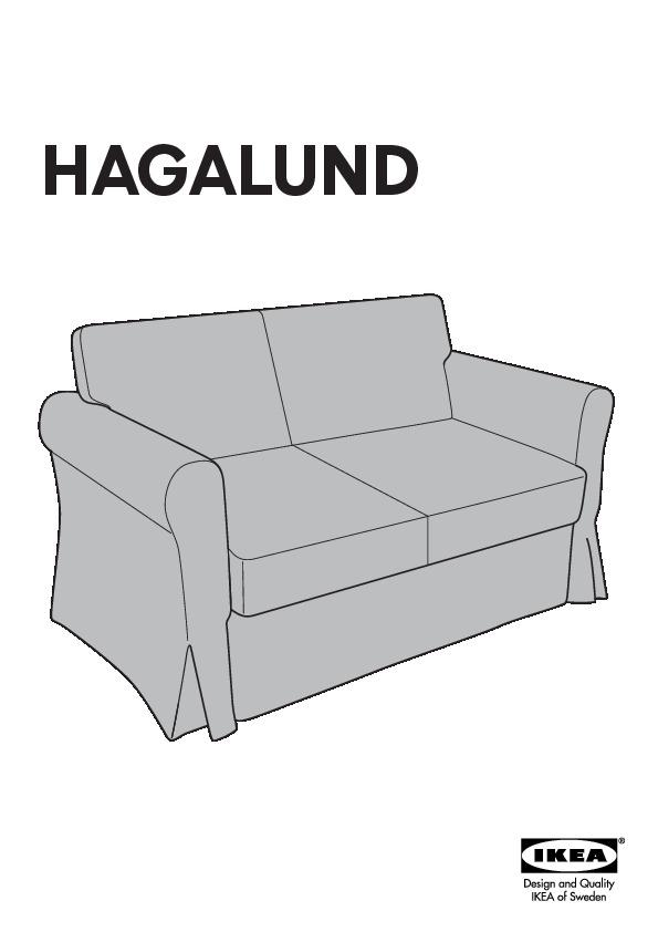 Hagalund Convertible 2 Places Blekinge Blanc Ikea France