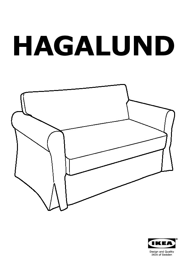 Hagalund Two Seat Sofa Bed Blekinge White Ikeapedia