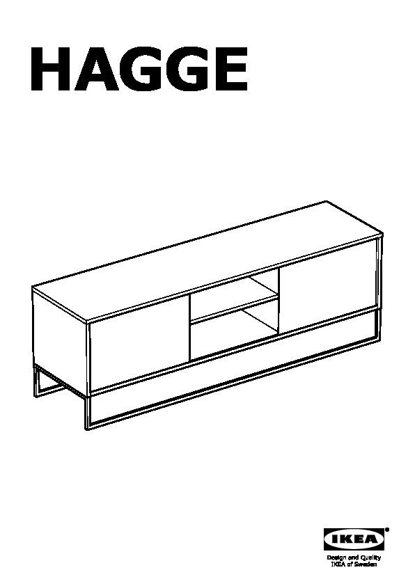 Hagge Banc Tv Noir Ikea France Ikeapedia