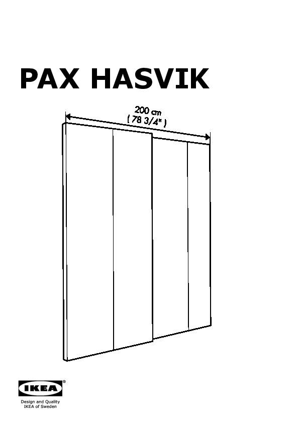 Pax Armoire Portes Coulissantes Blanc Hasvik Rouge Ikea