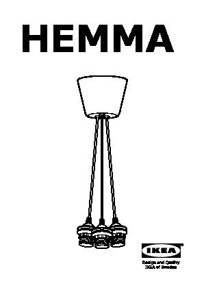 Hemma triple pendant cord set white ikea united states ikeapedia hemma triple pendant cord set aloadofball Image collections