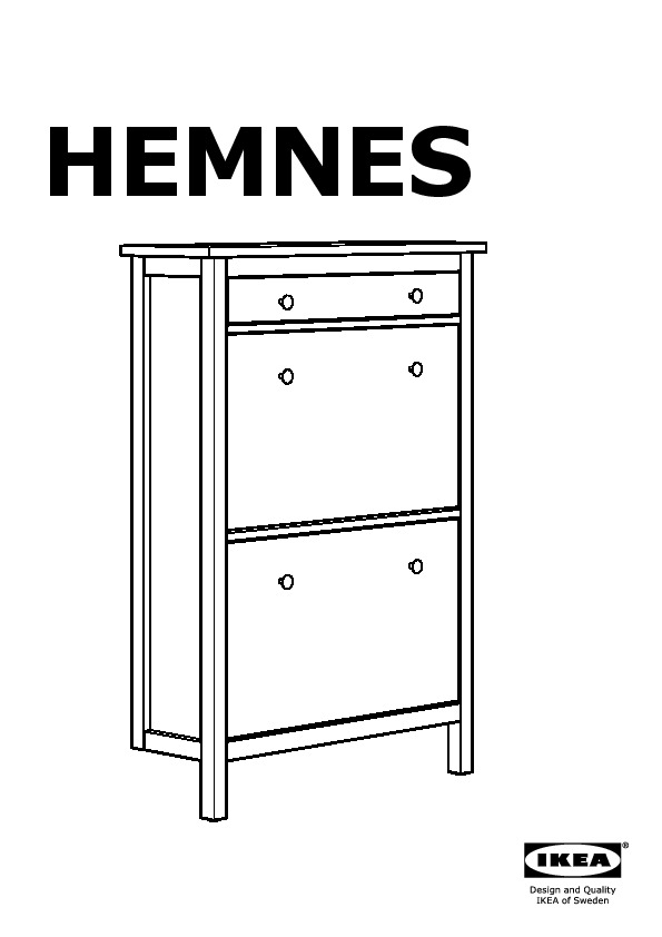 hemnes armoire chaussures 2 casiers gris brun ikea. Black Bedroom Furniture Sets. Home Design Ideas