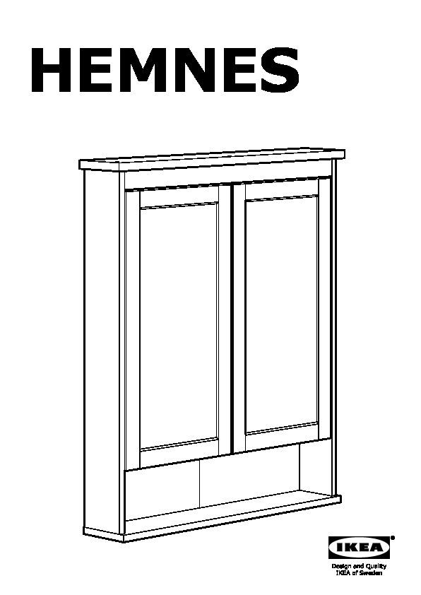 Hemnes Armoire A Pharmacie 2 Portes Miroir Blanc Ikeapedia