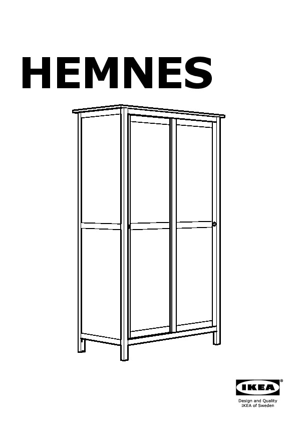 hemnes armoire 2 portes coulissantes brun noir ikea france ikeapedia. Black Bedroom Furniture Sets. Home Design Ideas