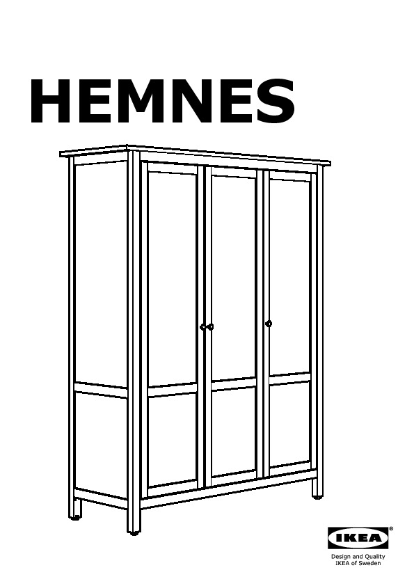 hemnes armoire 3 portes gris brun ikea france ikeapedia. Black Bedroom Furniture Sets. Home Design Ideas