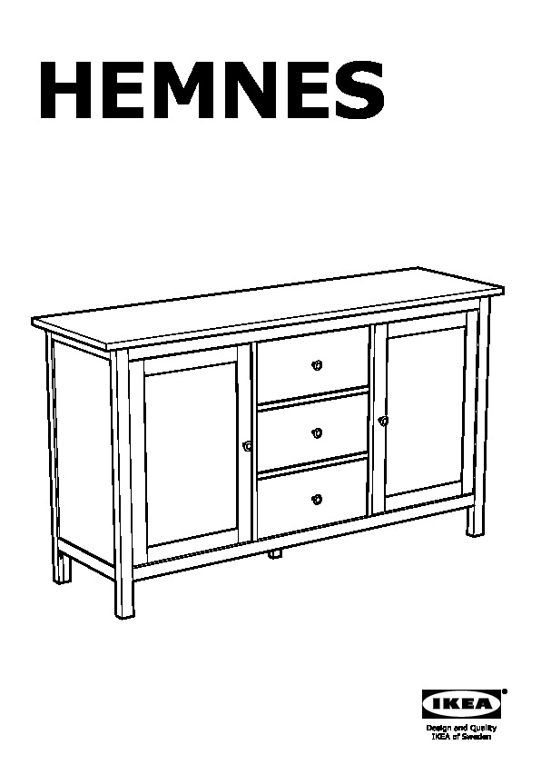 hemnes buffet brun clair ikea france ikeapedia. Black Bedroom Furniture Sets. Home Design Ideas