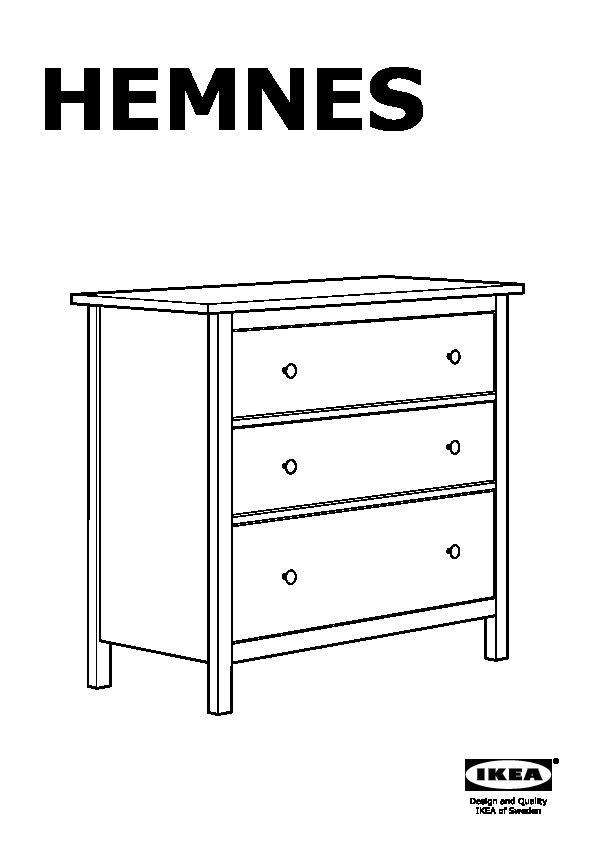 Ikea Hemnes Cassettiera Rossa.Hemnes Cassettiera Con 3 Cassetti Mordente Bianco Ikea Italy