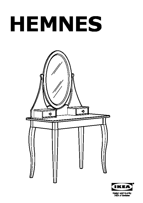 hemnes coiffeuse avec miroir blanc ikea france ikeapedia. Black Bedroom Furniture Sets. Home Design Ideas