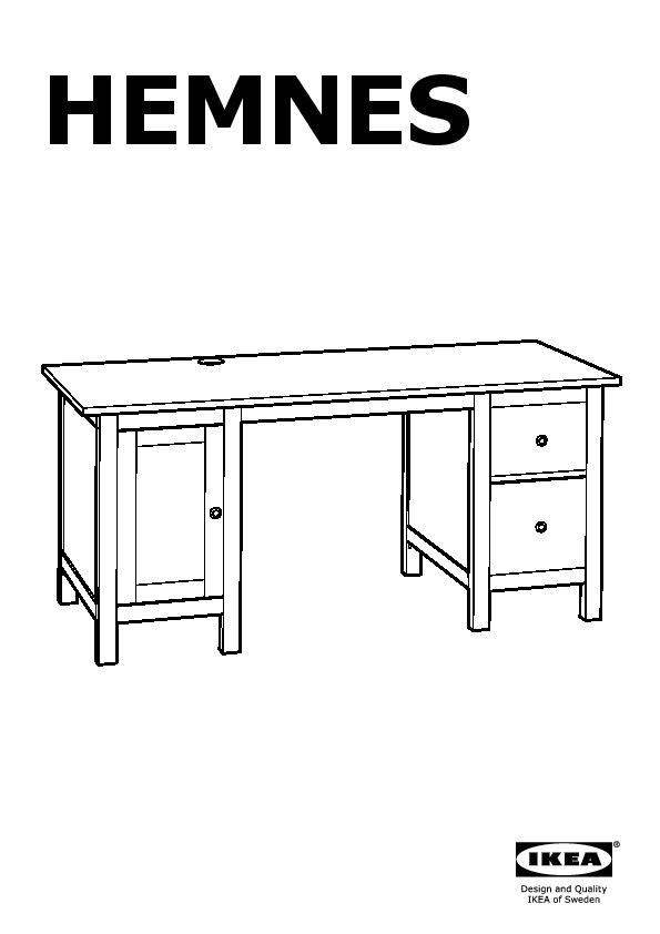 70245725 Hemnes Desk Assembly Instruction
