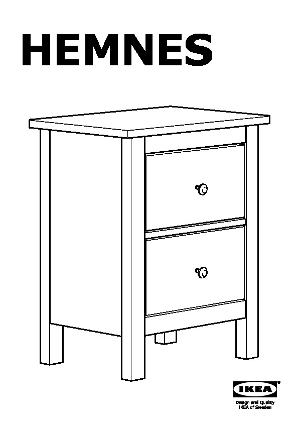 ikea hemnes chest of drawers instructions