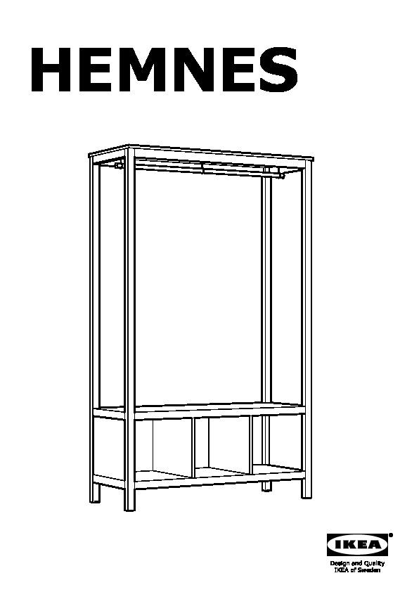 Ikea Hopen Guardaroba.Hemnes Guardaroba A Giorno Marrone Nero Ikea Italy Ikeapedia