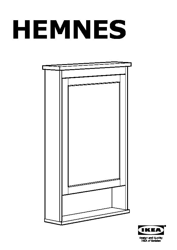 HEMNES Mirror cabinet with 1 door gray (IKEA Canada (English)) IKEAPEDIA