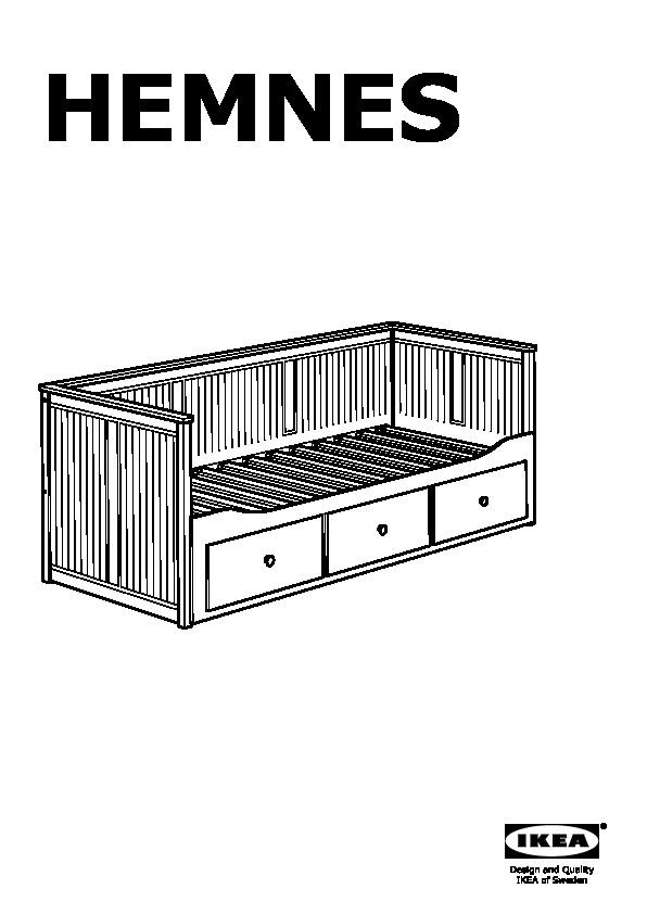 Hemnes Structure Lit Dappoint à 3 Tiroirs Blanc Ikea Canada