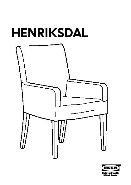 henriksdal housse chaise accoudoirs linneryd cru ikea france ikeapedia. Black Bedroom Furniture Sets. Home Design Ideas