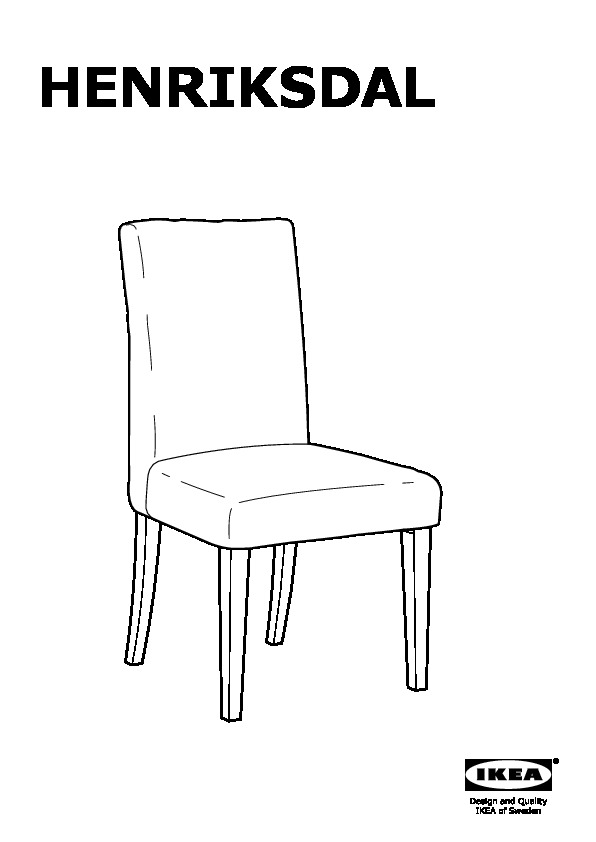 HENRIKSDAL struttura sedia