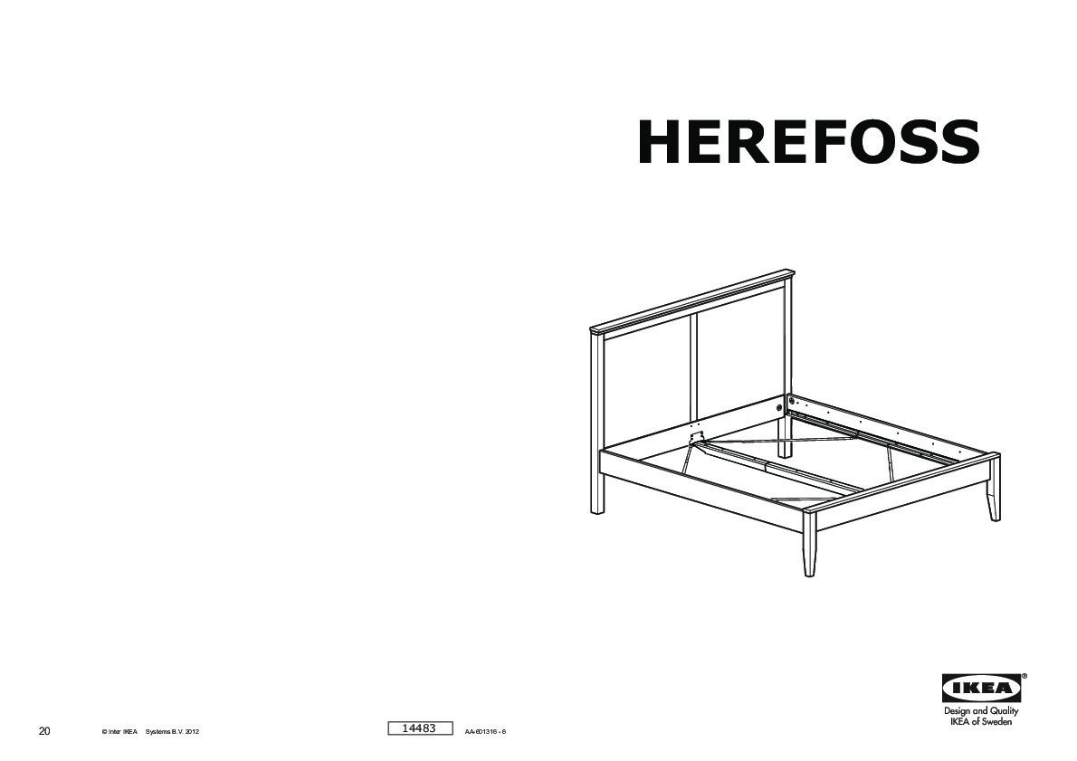herefoss bed frame oak lur y ikea united kingdom ikeapedia. Black Bedroom Furniture Sets. Home Design Ideas