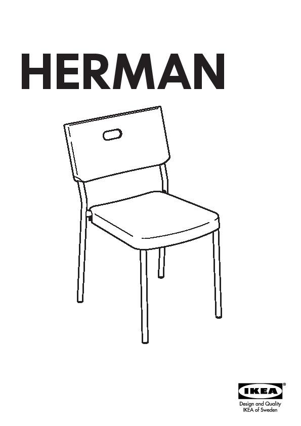 Herman Chaise Rouge (Ikea France) - Ikeapedia