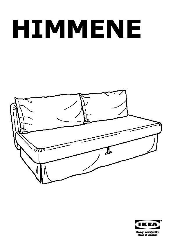 Himmene Sofa Bed Lofallet Beige Ikea United States