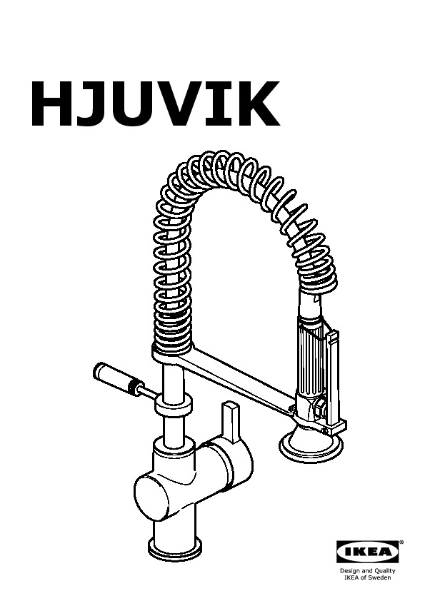 Captivating HJUVIK Kitchen Faucet With Handspray