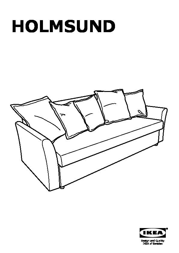 Holmsund divano letto a 3 posti ransta rosa pallido ikea - Struttura divano letto ikea ...