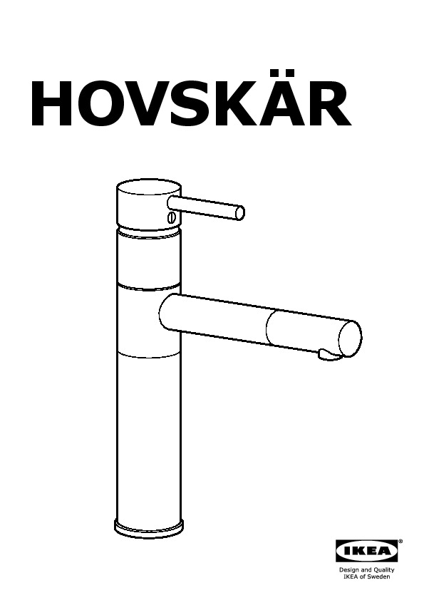 HOVSKÄR Single lever kitchen faucet stainless steel color (IKEA ...