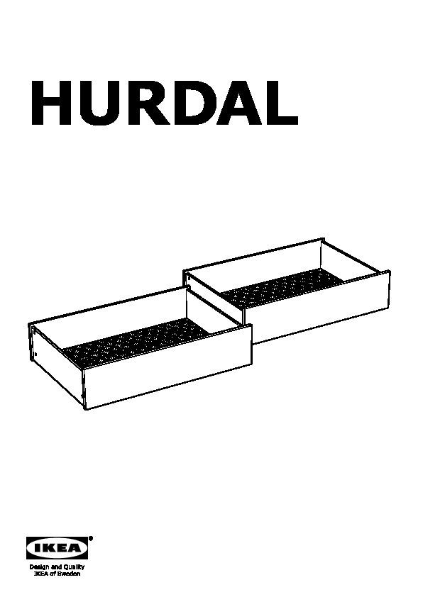 Hurdal struttura letto con 4 cassetti marrone chiaro - Contenitore sottoletto ...