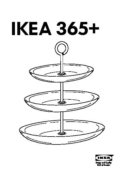 ikea 365 plat de pr sentation 3 tages verre clair acier inoxydable ikea france ikeapedia. Black Bedroom Furniture Sets. Home Design Ideas