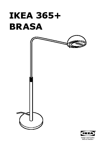 ikea 365 brasa floor reading lamp black ikea united kingdom ikeapedia. Black Bedroom Furniture Sets. Home Design Ideas