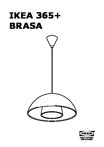 ikea 365 brasa suspension noir ikea france ikeapedia. Black Bedroom Furniture Sets. Home Design Ideas