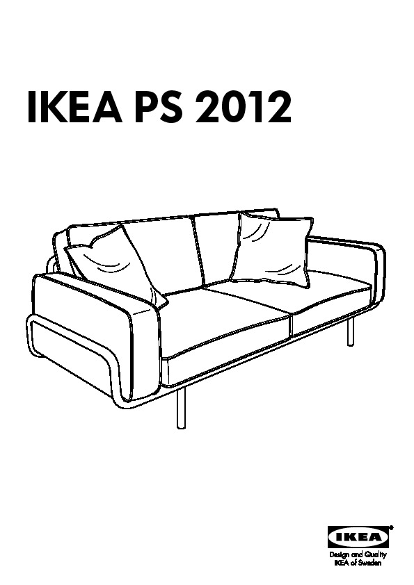 ikea ps 2012 canap 3 places blanc lind beige ikea france ikeapedia. Black Bedroom Furniture Sets. Home Design Ideas