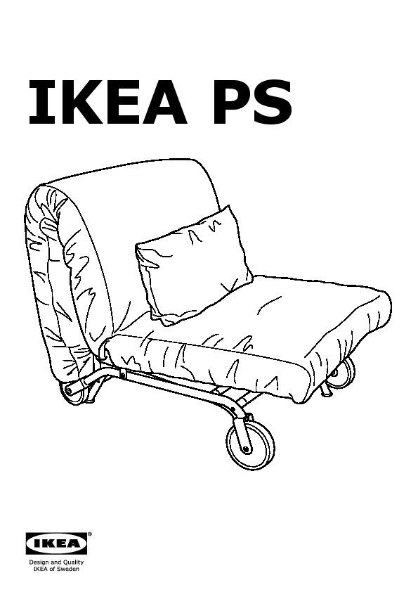 ikea ps l v s chair bed vansta red ikea united kingdom ikeapedia. Black Bedroom Furniture Sets. Home Design Ideas