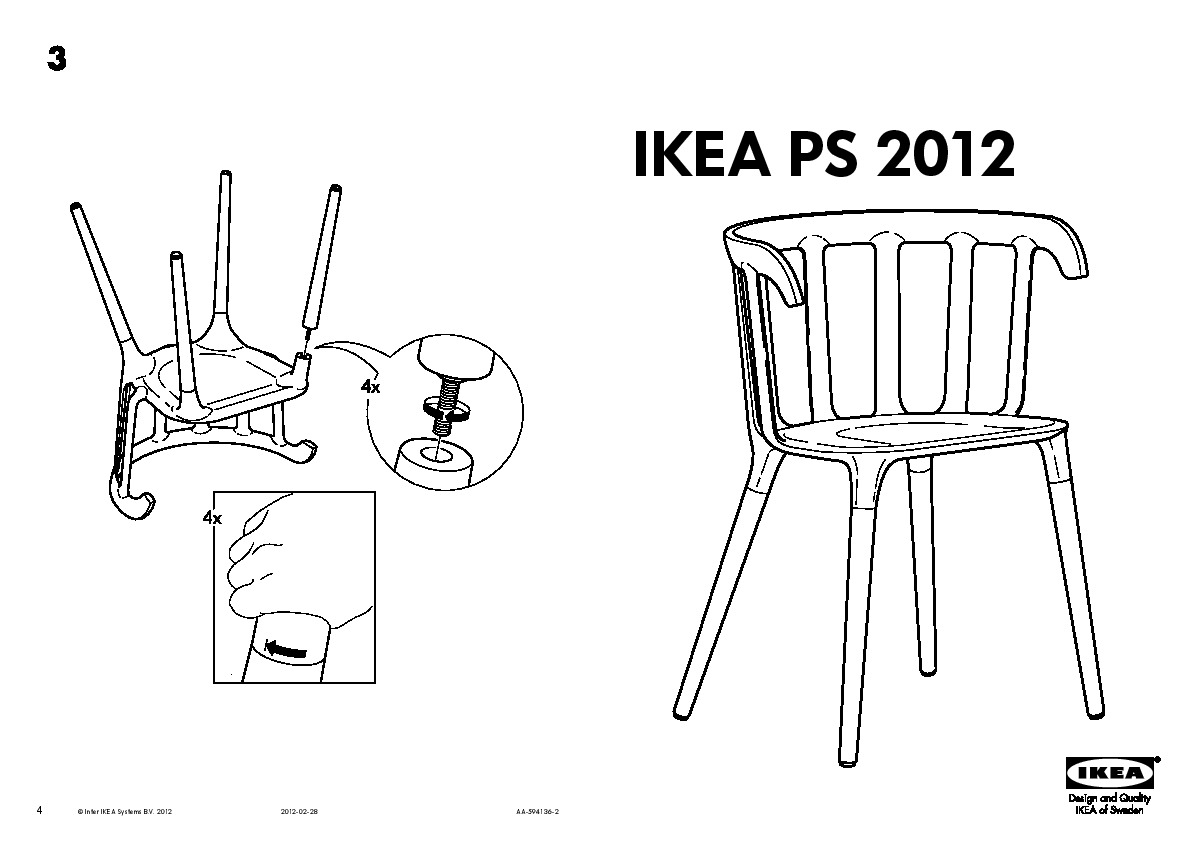 Trendy ikea ps chaise accoudoirs with table chaises ikea for Table et chaise ikea