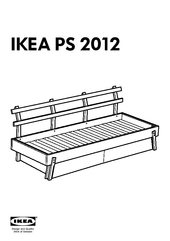 Ikea ps 2012 day bed w drawer mattr and pillows white for Manuel ikea daybed