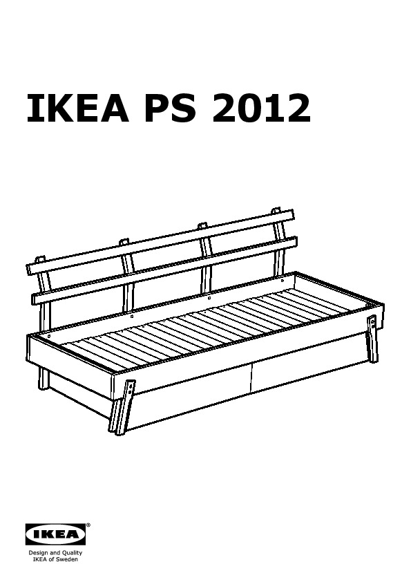 Ikea Ps 2012 Day Bed W Drawer Mattr And Pillows White